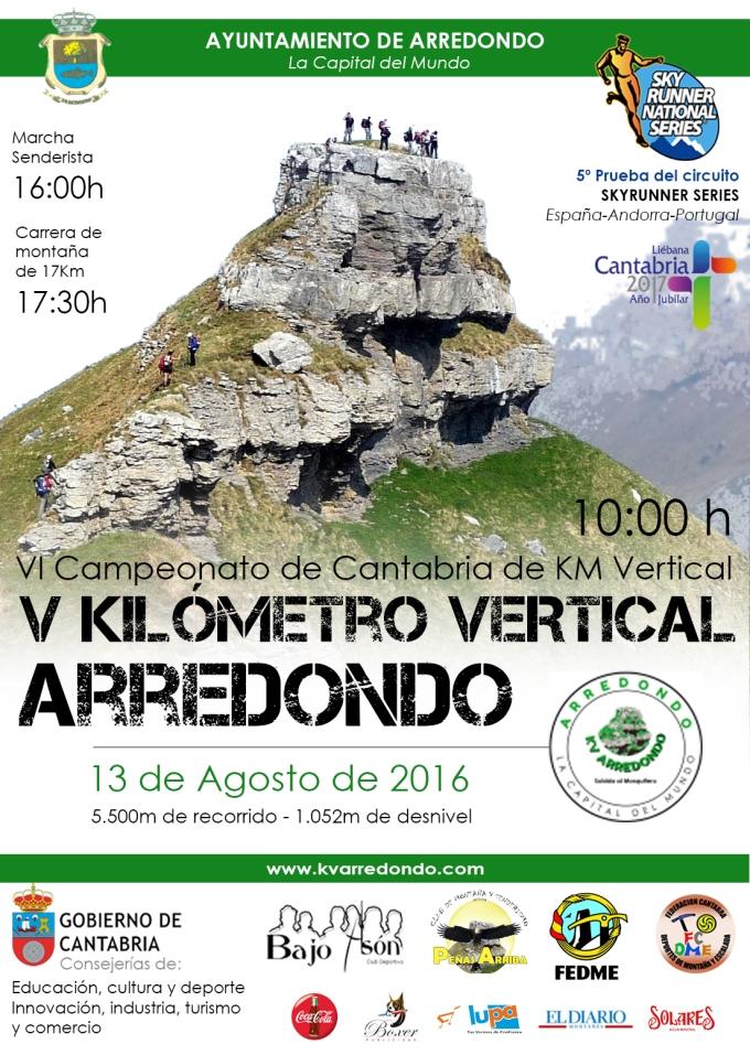 Cartel V KMV Arredondo - Nuevo horario