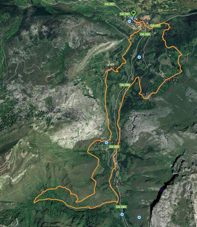 Plano Trail Alto Asón-Los Picachos