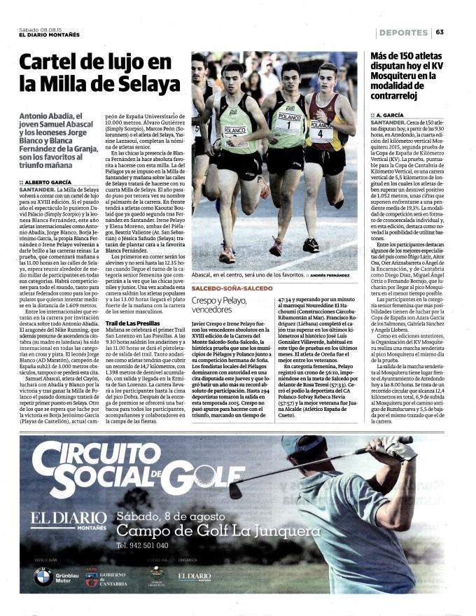 15.08.08- Diario Montañes. dia de la carrera