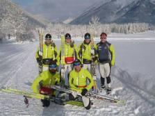 seleccion española de esquí de fondo y su fisio